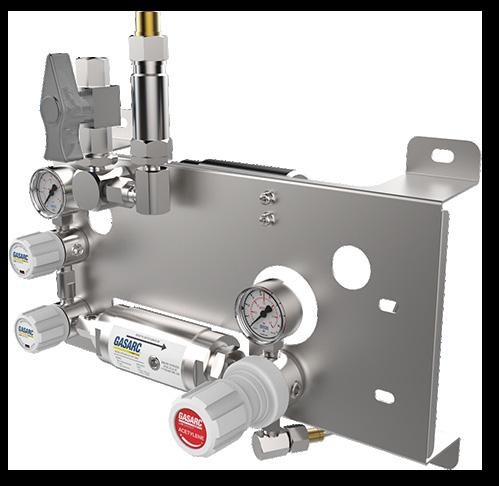 Gas Arc Manual gas control panel acetylene gas equipment