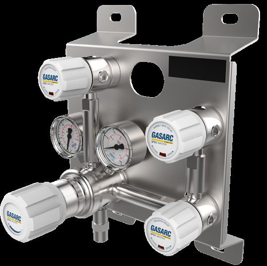 Gas Arc manual gas control panel gas equipment