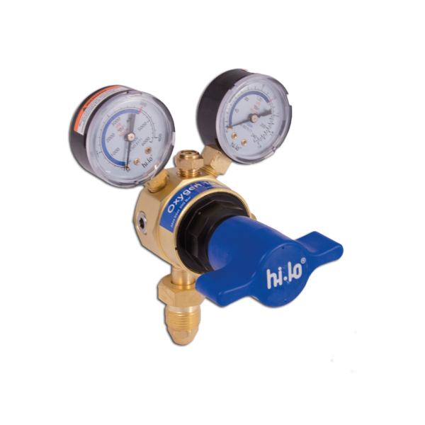 Hi-Lo UK Gas Equipment Single Stage Oxygen Regulator Base Entry